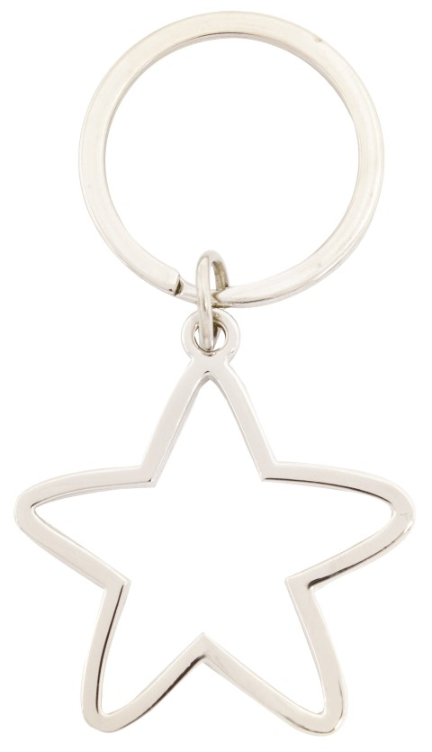 Abstract Star Keychain