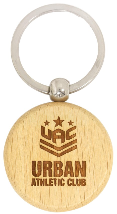 Timber Keychain Circle
