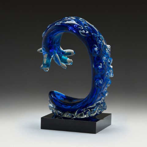 Wave Art Glass 260mm