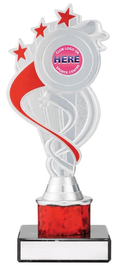 Dance Red S/Ribbon Star 210mm
