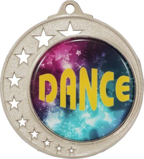 Stars Large Medal Silver
