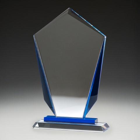 Glass Blue Keystone 245mm