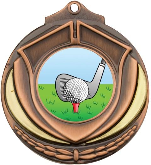 Shield Medal Golf Bronze