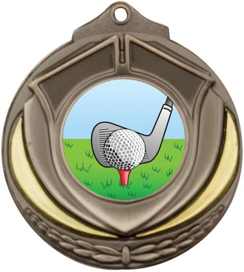 Shield Medal Golf Silver