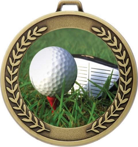 Prestige Golf Medal Gold