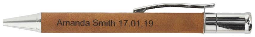 Leatherette Single Pen