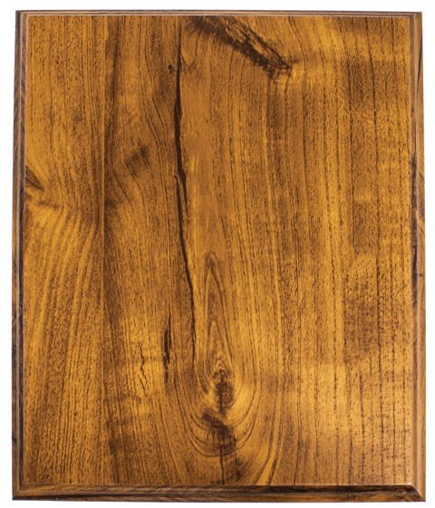 Budget Plaque Light Walnut 200mm