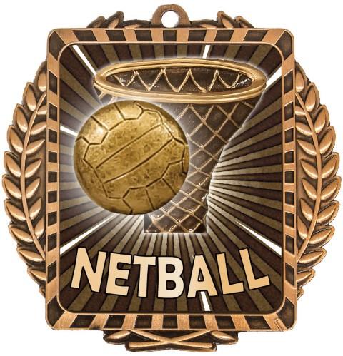 Netball Lynx Wreath Bronze