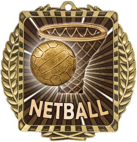Netball Lynx Wreath Gold