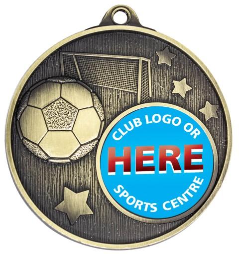 Club Medal Soccer Gold