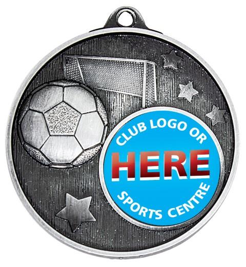 Club Medal Soccer Silver
