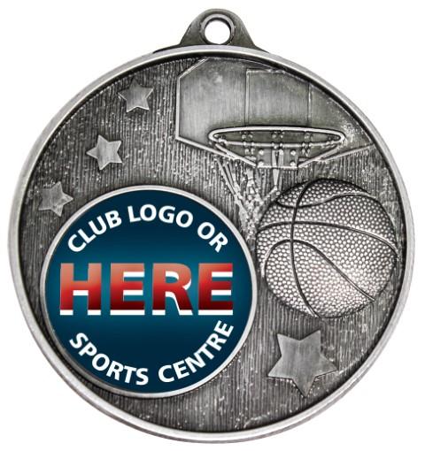 Club Medal Basketball Silver