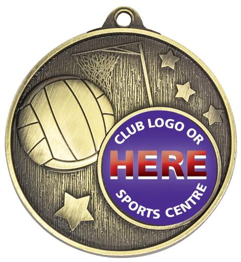 Club Medal Netball Gold