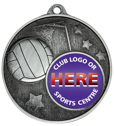 Club Medal Netball Silver