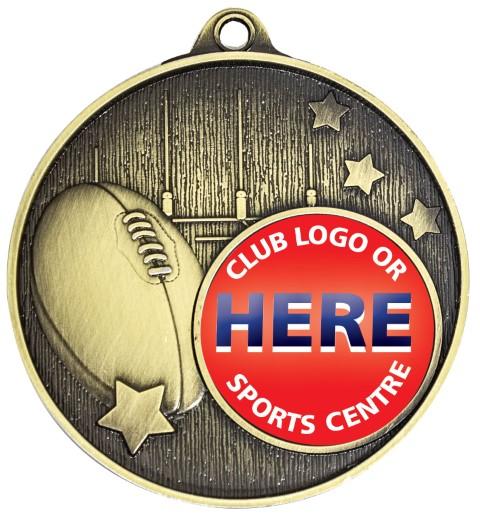 Club Medal Footy Gold