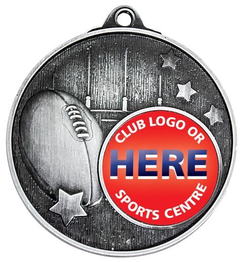 Club Medal Footy Silver