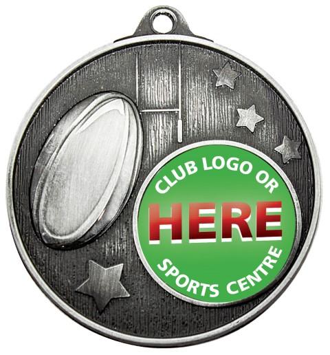 Club Medal Rugby Silver