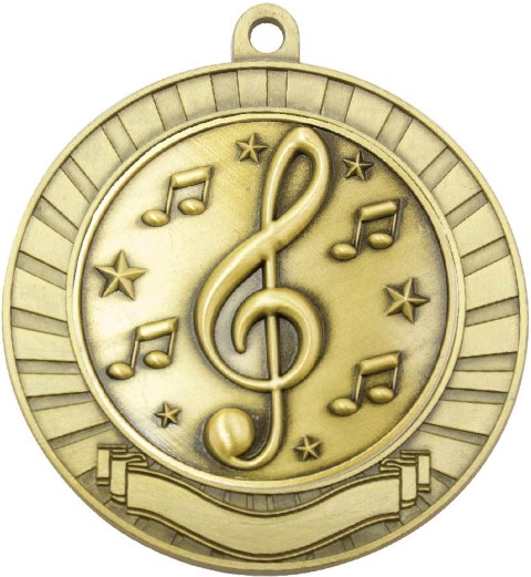 Eco Scroll Music Gold