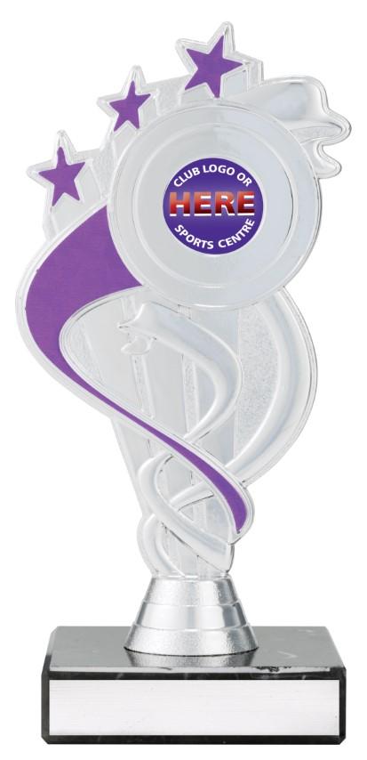 Netball Purple S/Ribbon Star 180mm
