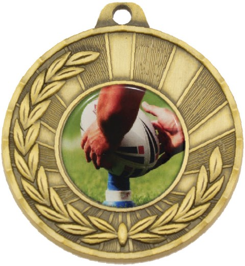 Heritage Medal Rugby Gold