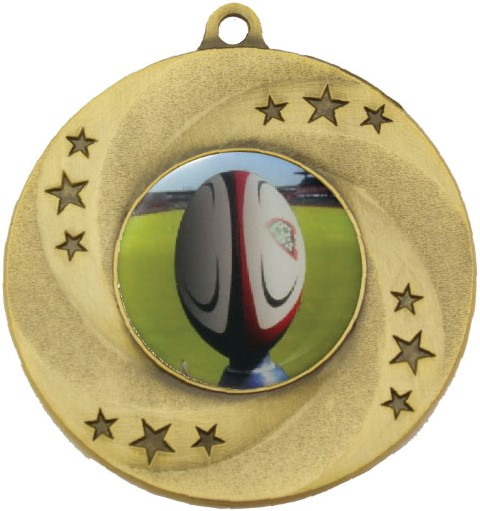 Astral Medal Rugby Gold