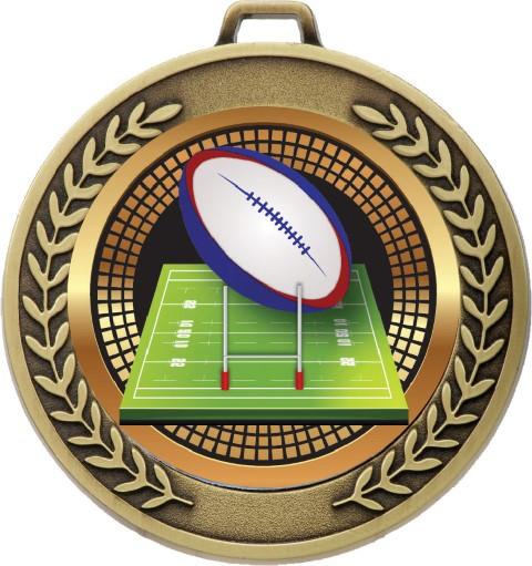 Prestige Medal  Rugby Gold