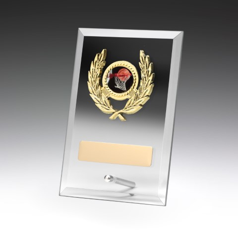 Glass Plaque Clear - Holder 175mm