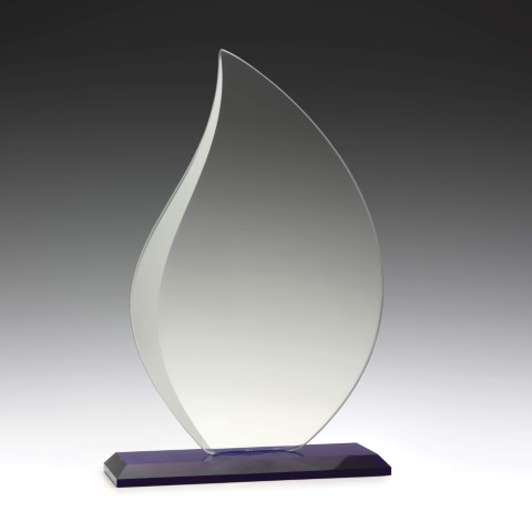 Glass Blue Lotus 190mm