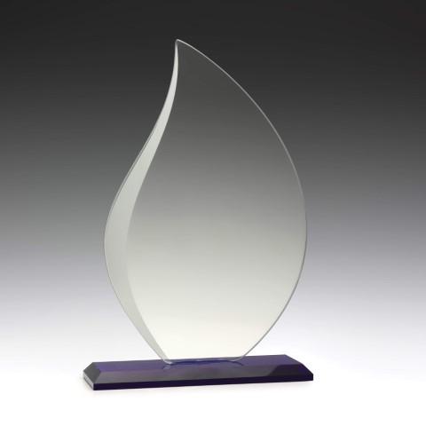 Glass Blue Lotus 210mm
